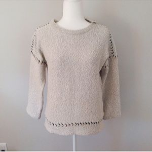 Lucky Brand NWT Navy/White Sweater w/Stitch Accent